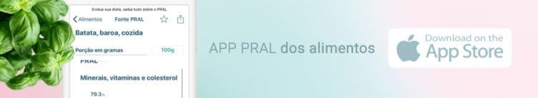 App PRAL dos alimentos